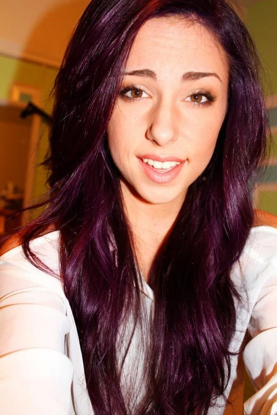 Violet Brown Hair Color Pravana violet over light to medium brown hair ...