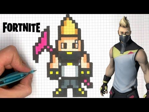 Chadessin Pixel Art Fortnite Youtube Pixel Art Dessins
