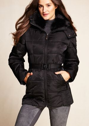 Keep out the cold in a cozy puffer jacket