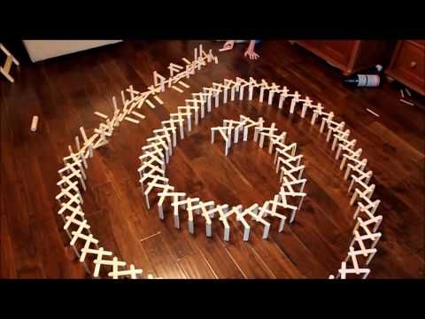 how to make popsicle stick chain reactions