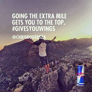 Going the extra mile gets you to the top. #givesyouwings #redbull