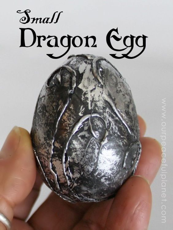 All this gorgeous dragon's egg takes to make is a plastic egg, a hot glue gun and some paint! Dragon loves, Game of Thrones fans and those who like fantasy in general will LOVE this! It's sure to be a conversation piece if displayed anywhere in your home.: