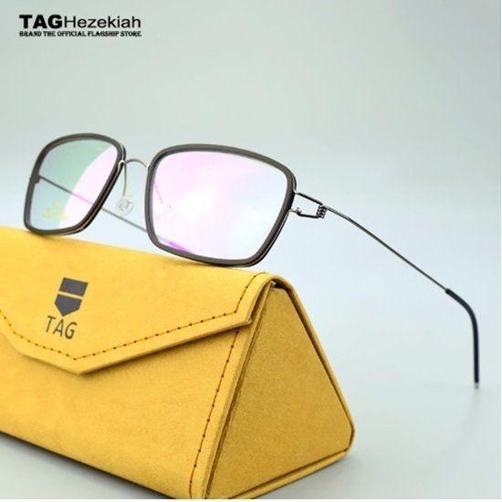 Taghezekiah 8216 Armacao De Oculos Masculino Titanio Slim Classic