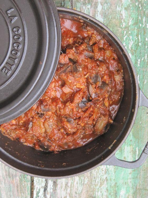 la cuisine d'ici et d'isca: riste d'aubergine   accompagnements