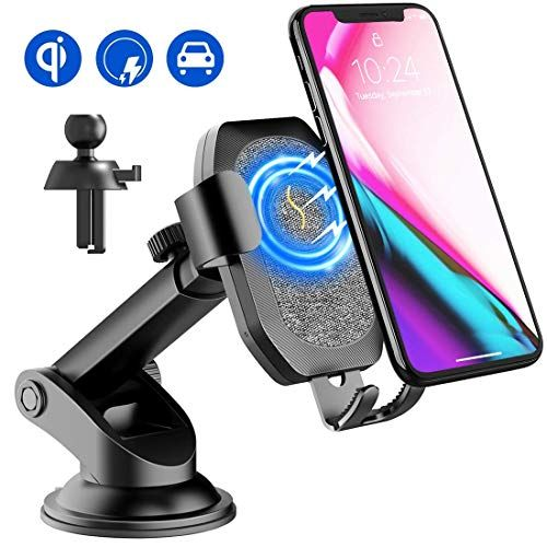 Chargeur Induction Voiture Sonru Chargeur Sans Fil Rapide Qi Support Telephone Voiture Charge Rapide For Iph Support Telephone Voiture Support Telephone Iphone
