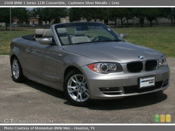 2008 BMW 1 Series 128i Convertible in Cashmere Silver Metallic. Click to see large photo.