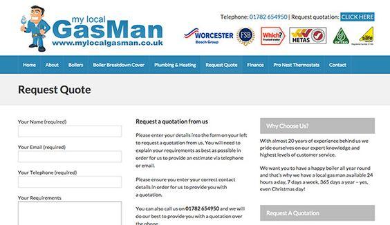 Pin by Web Expressions Ltd on mylocalgasman Pinterest - estimate request form