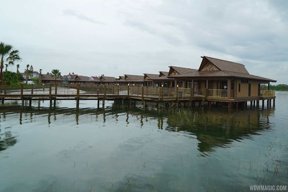 Disney's Polynesian Villas and Bungalows - Disney's Polynesian Village Resort Bora Bora Bungalow - View of the bungalows