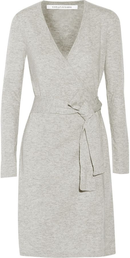 Trending On ShopStyle - Diane von Furstenberg Linda wool and cashmere-blend wrap sweater dress - ShopStyle Women