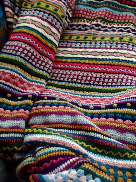 Ravelry: Галерия Проект за Mixed Стич раиран Одеяло модел от Джули Харисън, Stylecraft Специална DK: