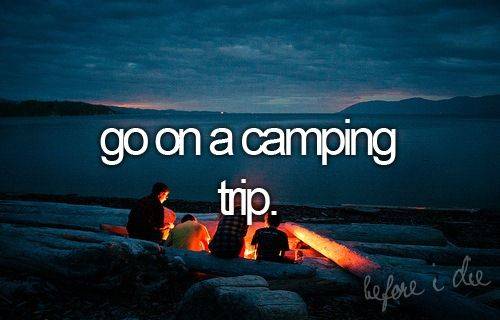 To do ...I imagine roasting marshmallows over a camp fire, someone playing a guitar, horror stories && star gazing ☺️☺️☺️