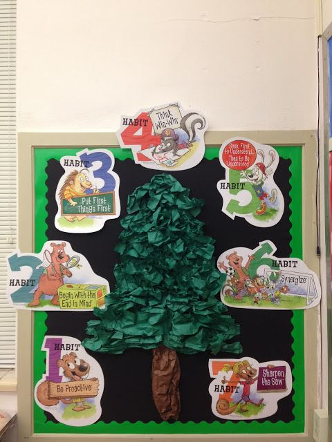Ideas trees and leader in me on pinterest for 7 habits tree mural