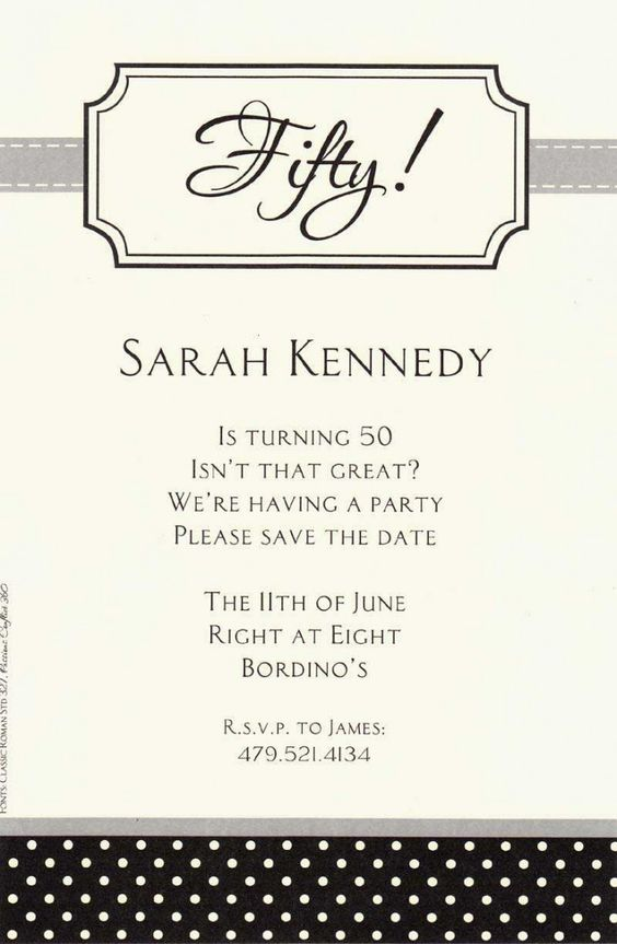 Formal 50th White Paper Materials Birthday Party Invitation – How to Word a Birthday Invitation