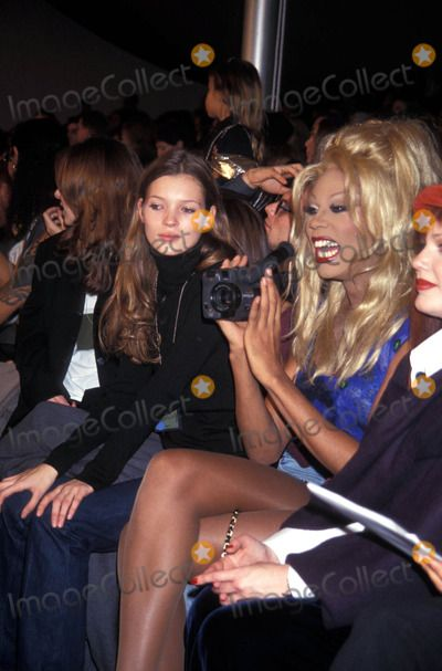 Todd Oldham Fashion Show at Bryant Park Rupaul and Kate Moss 11/02/1993 Photo by John Barrett/Globe Photos