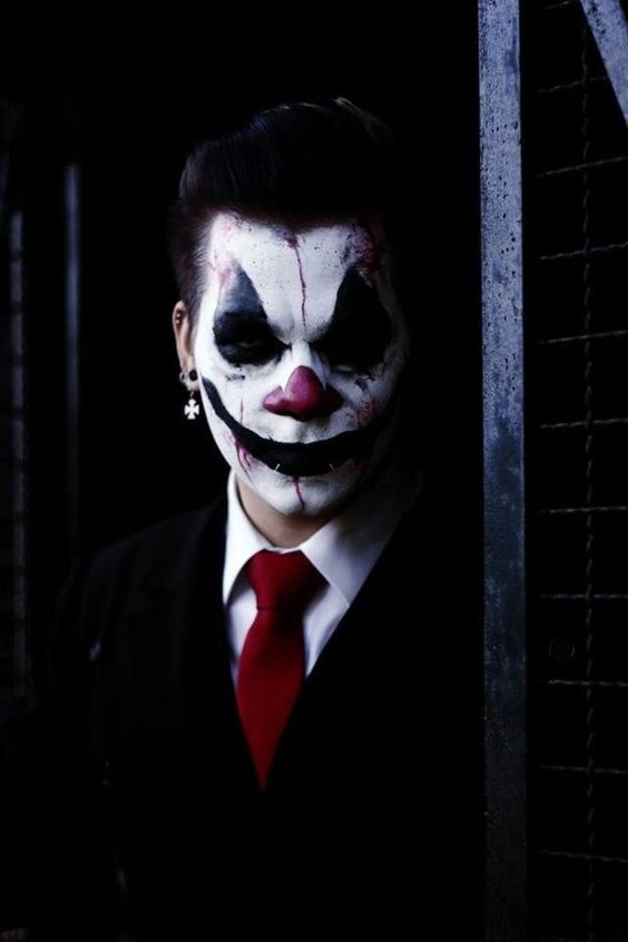 I decidet to do a scary Clown-Makeup enjoy my attached ...