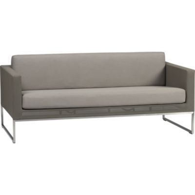 Dune Sofa with Sunbrella® Taupe Cushion. Minimalist modern from Crate and Barrel. $1199