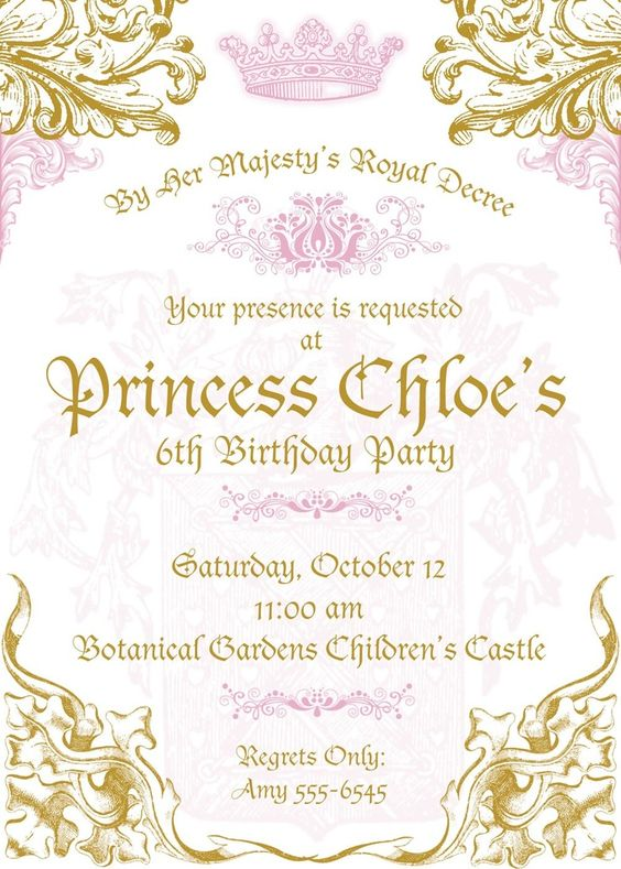 Princess birthday parties birthday party invitations and castle party
