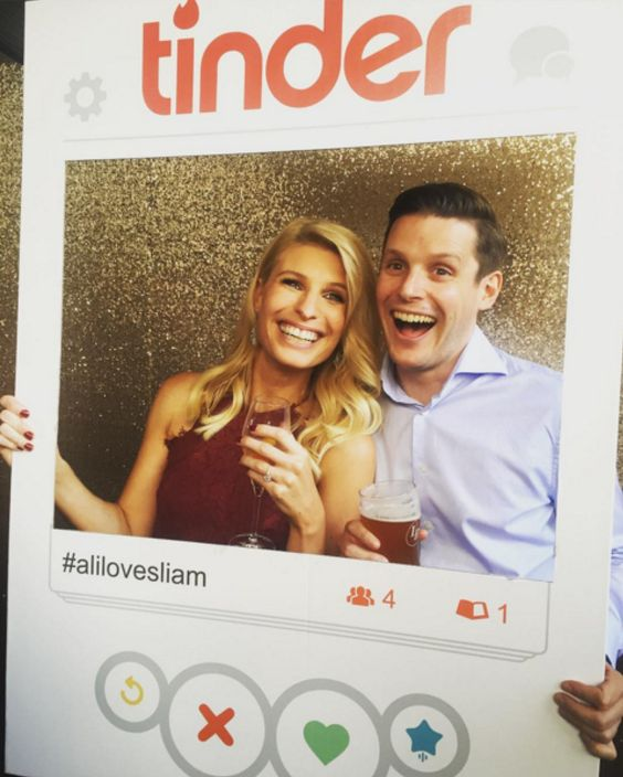 Tinder Frame Engagement Party: