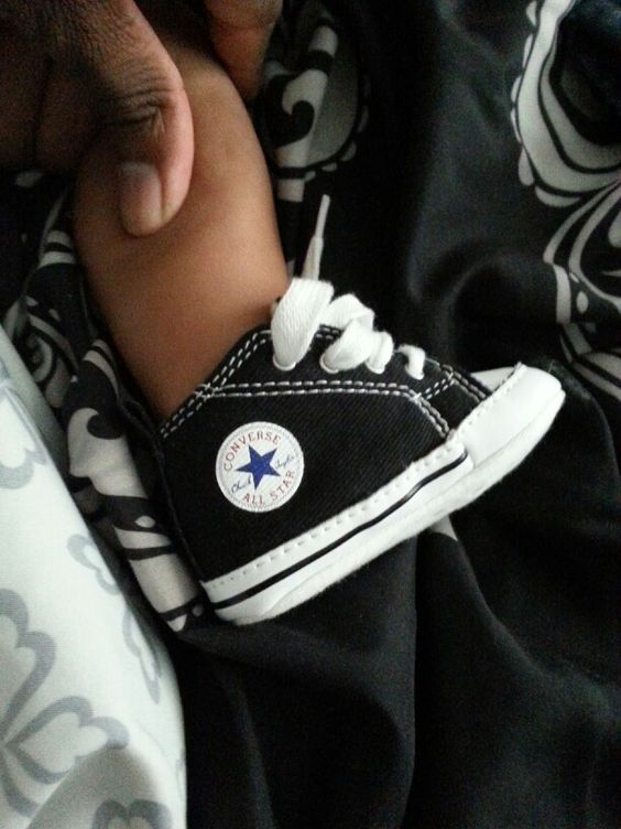 Baby Tyler already has a pair of Cons and I can't wait to put them on him when his foot gets a little bigger.