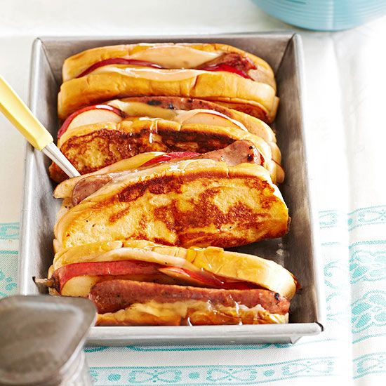 French Toasted Sausage And Pear Hot Dogs Recipe