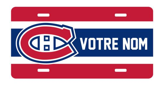 Personnalized Canadiens Montréal License Plate by ChezGeeks, $15.00