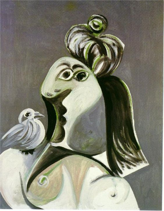 Woman with bird, 1970  Pablo Picasso