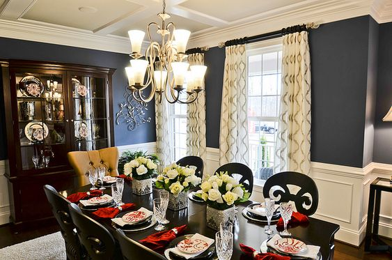 rich colors wall colors blue colors color formal navy formal room