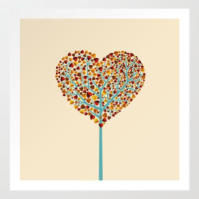 Tree of love Art Print by kuss kuss - $14.00