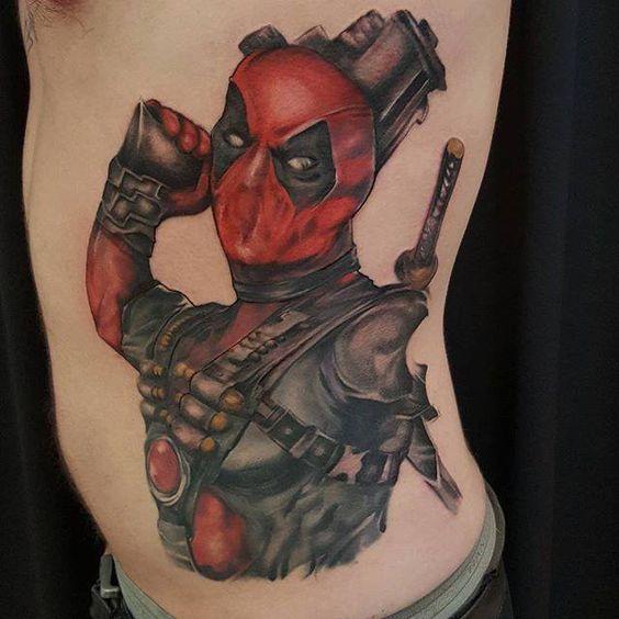 Chronic Ink Tattoo - Toronto Tattoo Deadpool tattoo done by Mor.
