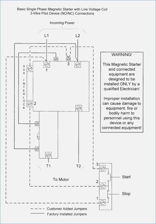 Wiring Diagram For Single Phase Magnetic Starter