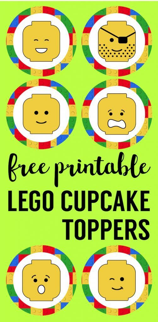 Magnificent Lego Cupcake Toppers Printable With Images Lego Cupcakes Funny Birthday Cards Online Overcheapnameinfo