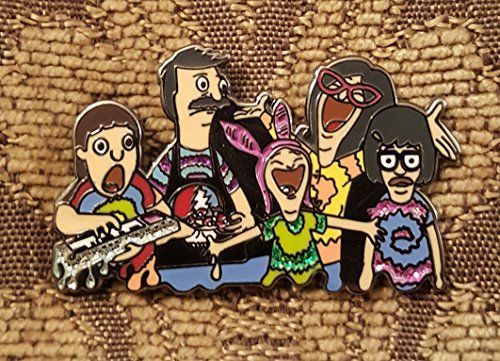 Bob's Burgers Bob's Burnouts V3 Hat Pin Lapel Pin Enamel Pin Dab Pin