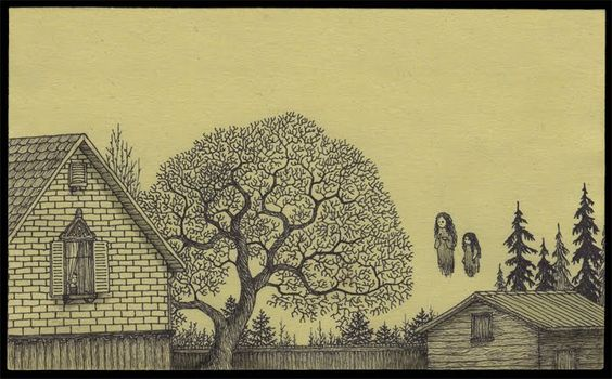 Tim Burtonesque stories on Post-it notes by artist John Kenn