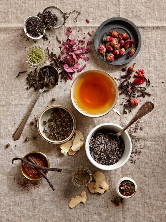 different kinds of tea. beauty of tea leaves #bywstudent: