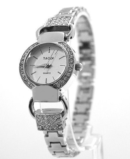 $10.08 (Buy here: http://appdeal.ru/5m23 ) Round PNP Shiny Silver Watchcase White Dial Ladies Women Bracelet Watch FW798B for just $10.08