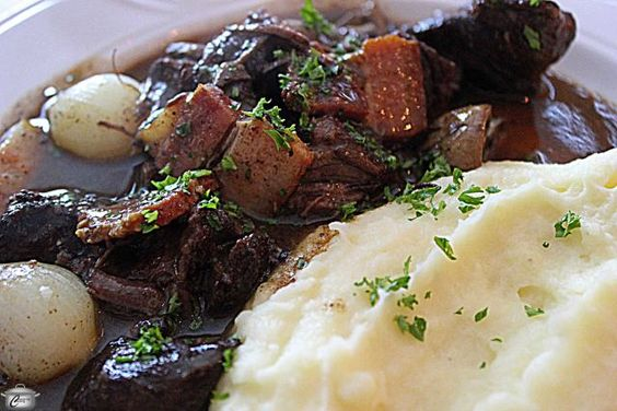 The best Boeuf Bourguignon and mashed potatoes I have ever tasted.