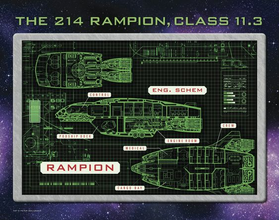 The super cool Rampion spaceship schematics!: