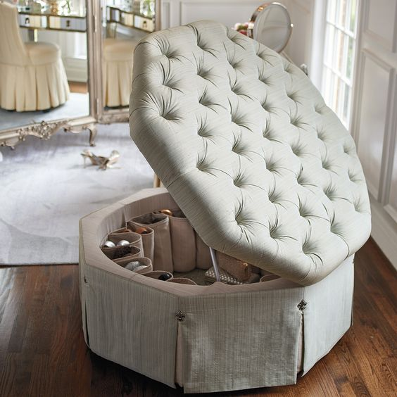 Ottomans Storage Closets And Shoes On Pinterest