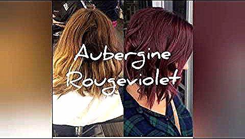 اللون البنفسجي مع الوصفة Aubergine Youtube Womens Hairstyles Balayage Long Hair Styles