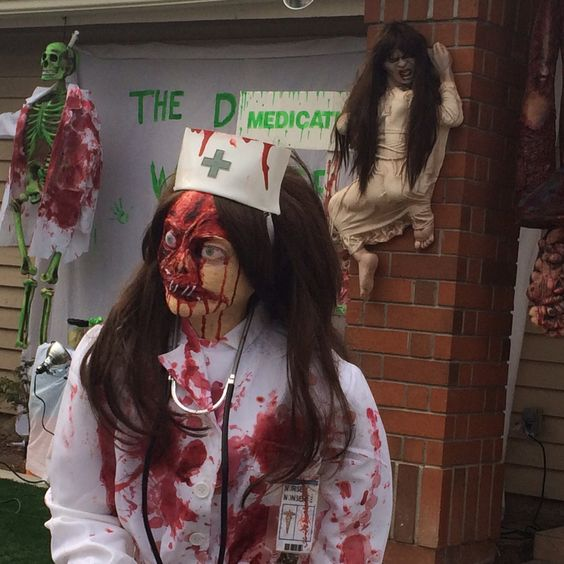 Scary Diy Halloween Decorations: Close Up Pic Of Scary Nurse Homemade Prop I Made