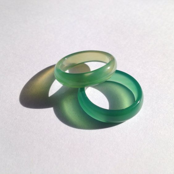 Light Green Jade Ring Size US 6.75  8.25 by LAAALAAAland on Etsy, $5.00