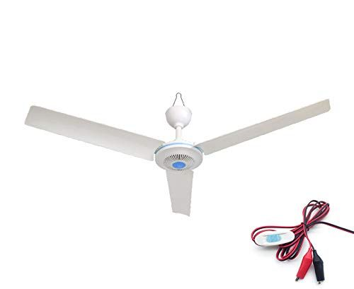 Dc 12v Gazebo Ceiling Fan With Switch Portable Outdoor Capony Tent