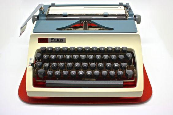 Typewriter Daro Erika model 32 by twomoonsandhannais on Etsy