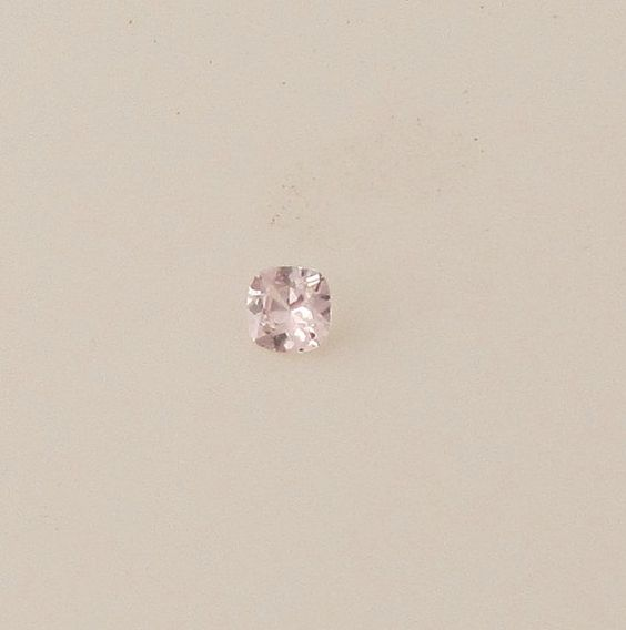 Peach Pink Cushion Sapphire 5.7mm Loose Faceted by PristineJewelry