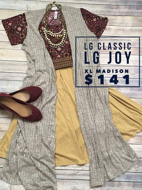 Large wine background patterned Classic + Large taupe Joy + XL heathered mustard Madison $141 before tax