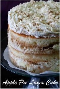 apple pie layer cake from @BigFat Baker