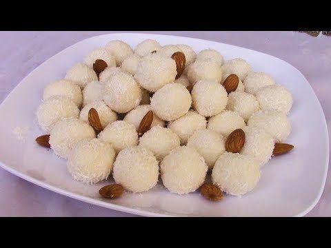حلى رافايلو بثلاث مكونات فقط سهل التحضير طريقة عمل كرات جوز الهند الفرنسية الباردة الحلقة 182 Food Lebanese Recipes Arabic Sweets
