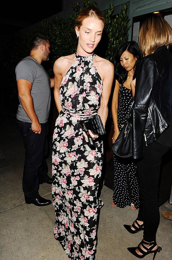 Rosie Huntington-Whitely looks stunning in this whimsical botanical print by Reformation. // #Fashion #Style