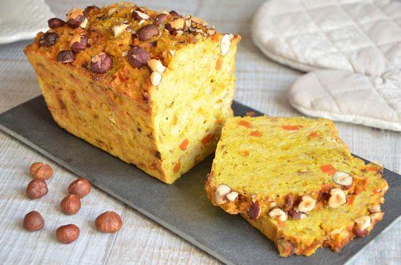 cake lentilles corail, carottes et curry http://turbigo-gourmandises.fr/cake-aux-lentilles-corail-carottes-curry/