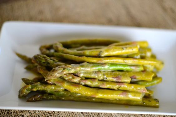 asparagus w/ tarragon mustard sauce. | food » side dishes ...